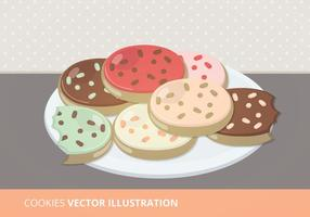 Tallrik med cookies vektor illustration