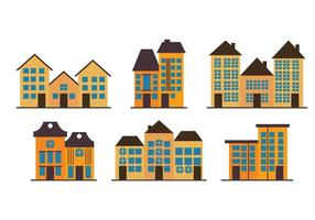 Townhomes Vectores