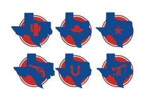 Texas Mapa Vectores
