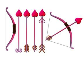 Cupid Bow Vector Set