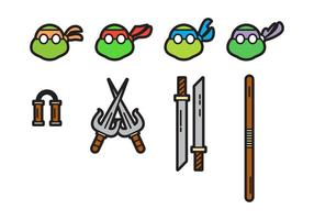Livre Cute Ninja Turtles Vectors