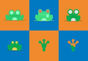 Free Green Tree Frog Vectors