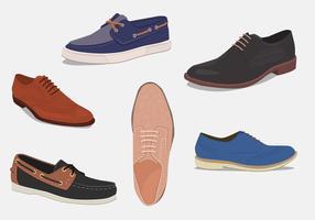 Chaussures pour hommes. Différents types