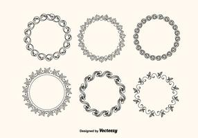 Vector Decorative Frames Set