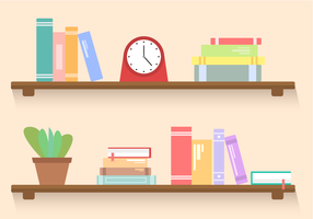 Vector Bookshelf gratuit