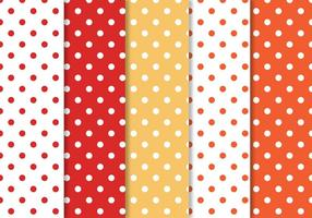 Polka Dot Pattern Set vector
