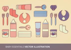 Baby Essentials Vektor-Illustration