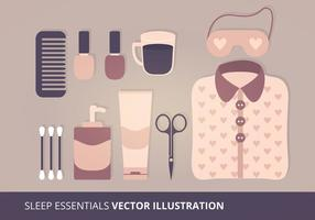 Illustration vectorielle de Sleep Essentials