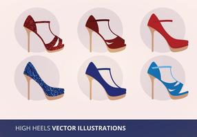 Illustration vectorielle de collection de chaussures