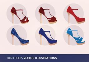 Ilustración vectorial de la colección de zapatos