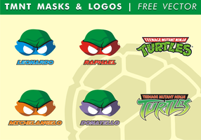 TMNT Maskers & Logos Gratis Vector