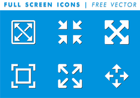 Full Screen Ikoner Gratis Vector