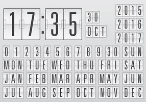Contador del calendario del vector