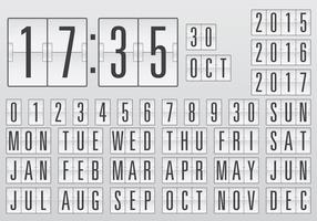 Contatore del calendario vettoriale