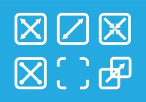 Full screen icon vectors