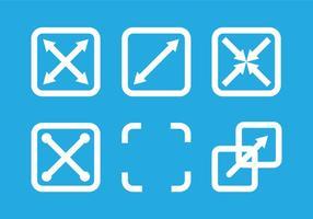 Vectores de iconos de pantalla completa