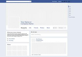 Mockup del vector de la página de Facebook