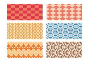 Mid eeuwse patroon vector set