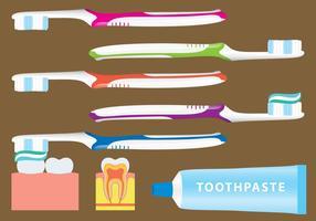 Vetores de escovação de dentes