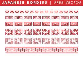 Japanska gränser Gratis vektor
