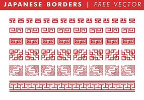 Japanese Borders Free Vector
