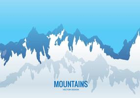 Chaîne de montagnes vectorielle