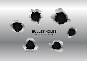 Vector metal bullet agujero