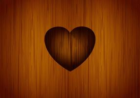 Coração esculpido fundo do vetor da árvore