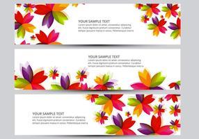 Flower banner vectors