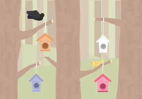 Vetor de birdhouse gratuito