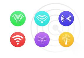 Iconos de los símbolos de Wifi Free Pack