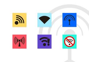 Wifi Symbole Vector Icons