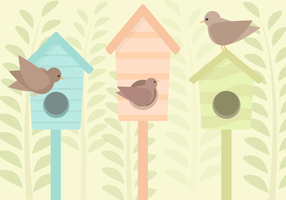Vector Birdhouse gratis