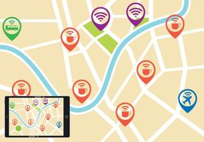 Wifi Map Vector