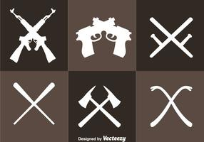 Crossed Weapons Icons