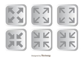 Page Size Button Icons vector