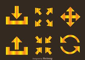 Golden Arrow Symbols vector