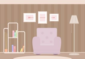 Vetor de sala de estar grátis