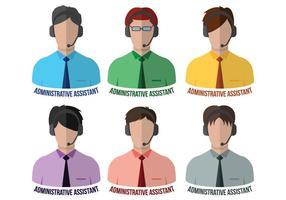 Ayudante Administrativo Vectores