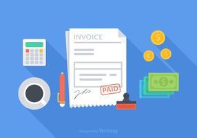 Concepto libre de la factura del vector