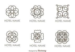 Floral Ornament Hotel Logo Vectoriales vector