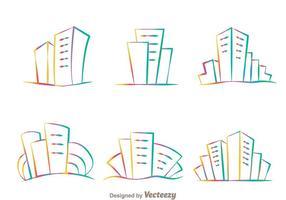 Rainbow Hotel Logo Vektoren
