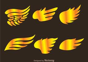 Gold Hawk Wing Logo Vectores