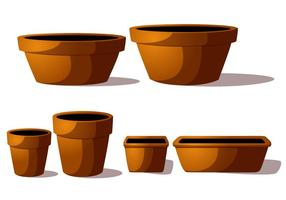 Terra Cotta Pot Vectores