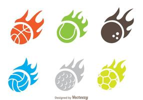 Flamme Ball Icon Vektoren