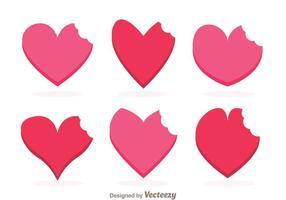 Vectores de la marca de la mordedura del corazón