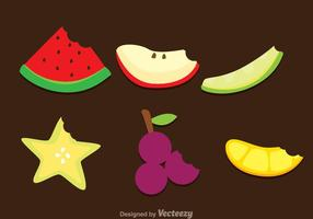 Plakjes vruchten bijtenvruchten