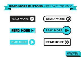 Leer más botones paquete vectorial gratis