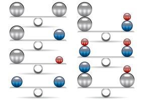 Equilibrio de los vectores de esfera de cromo