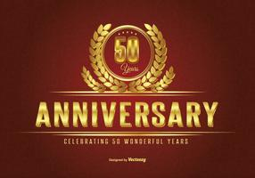 Golden Fifty Year Anniversary Illustration